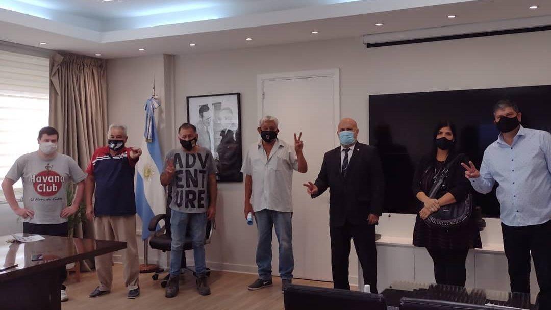 Belgrano Sur Reunión de vecinos, con el jefe de Gabinete en Trenes Argentinos